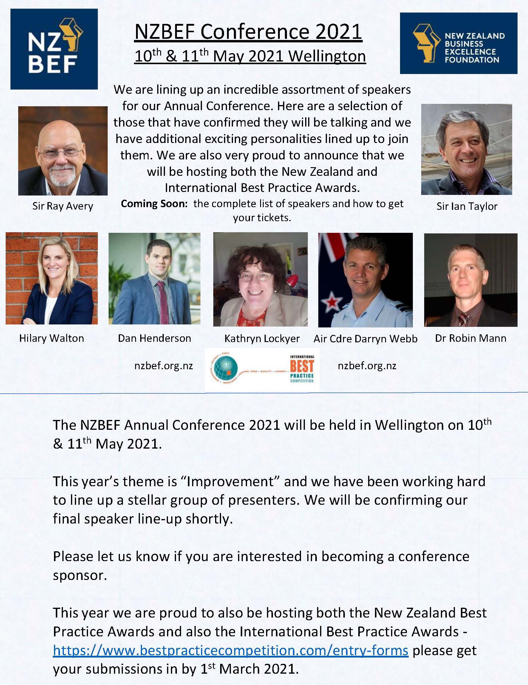 NZBEF Conference May 2021 Flyer